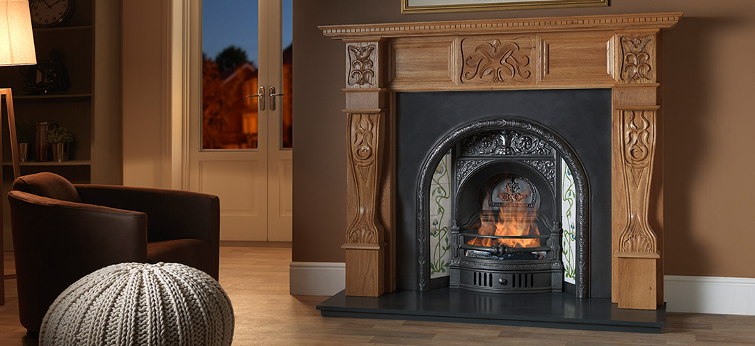 Refurbished fireplaces belfast baby girl and her parents for Garden rooms rocal